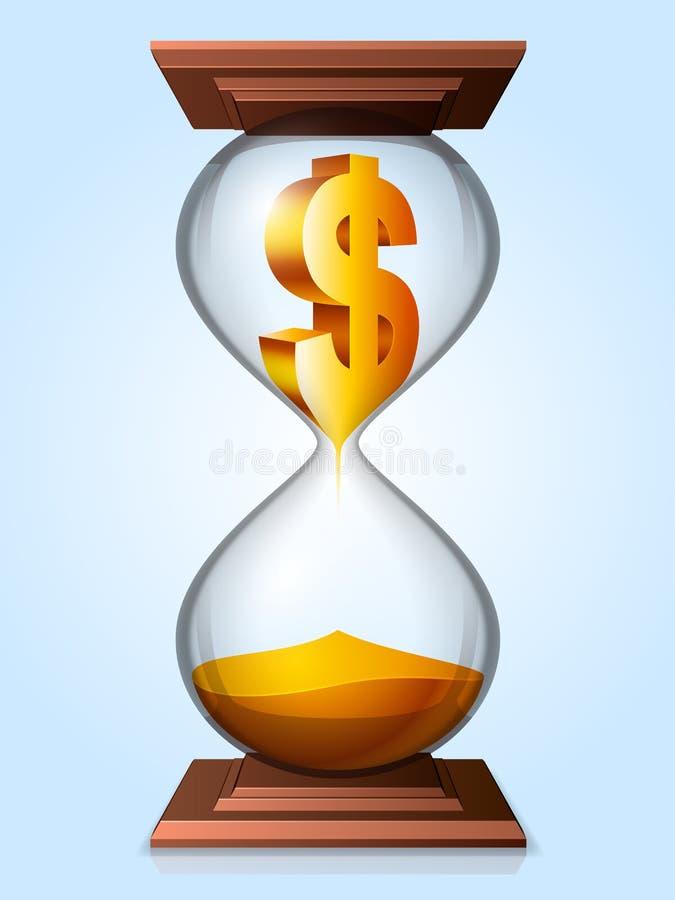 时间是金钱概念。 皇族释放例证