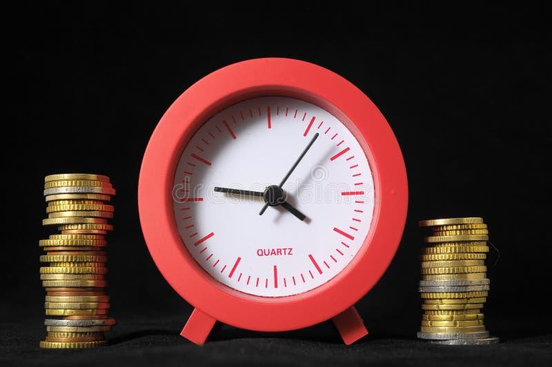 时间是金钱概念 免版税库存照片