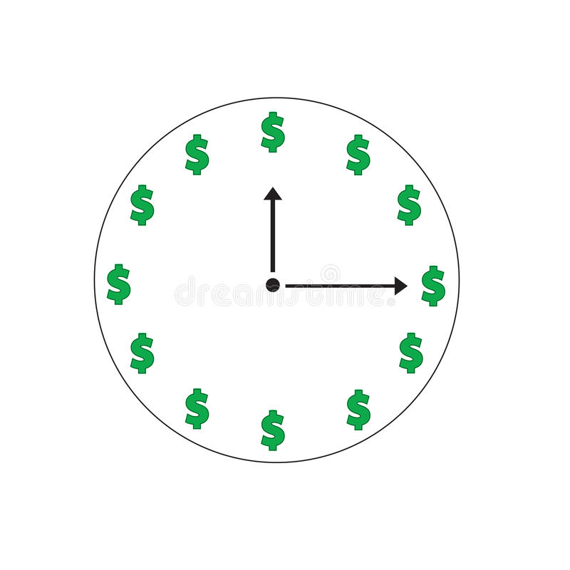时间是金钱 库存图片