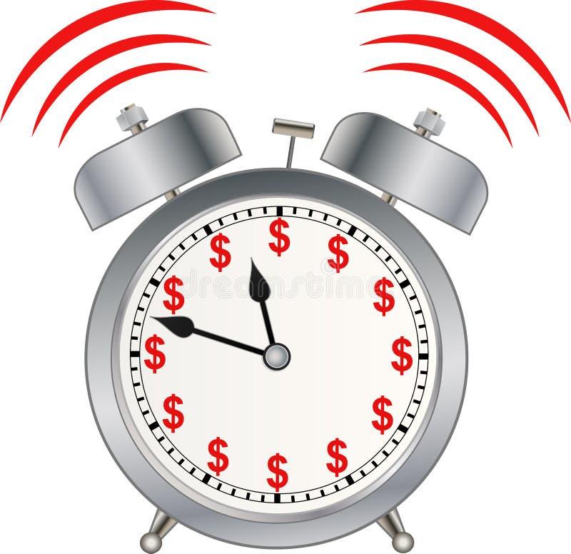 时间是金钱 向量例证