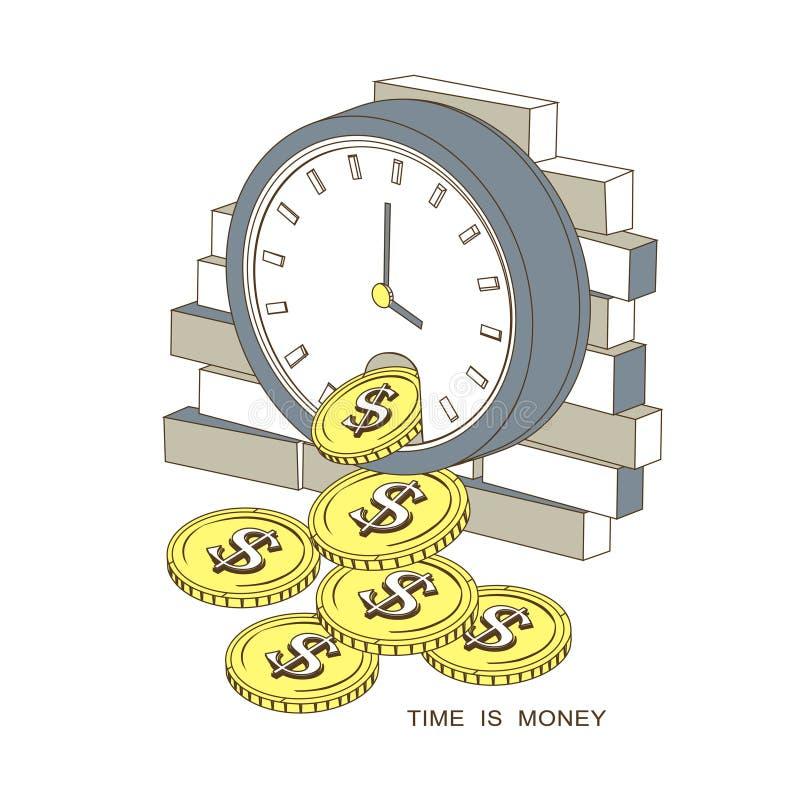 时间是货币概念 皇族释放例证