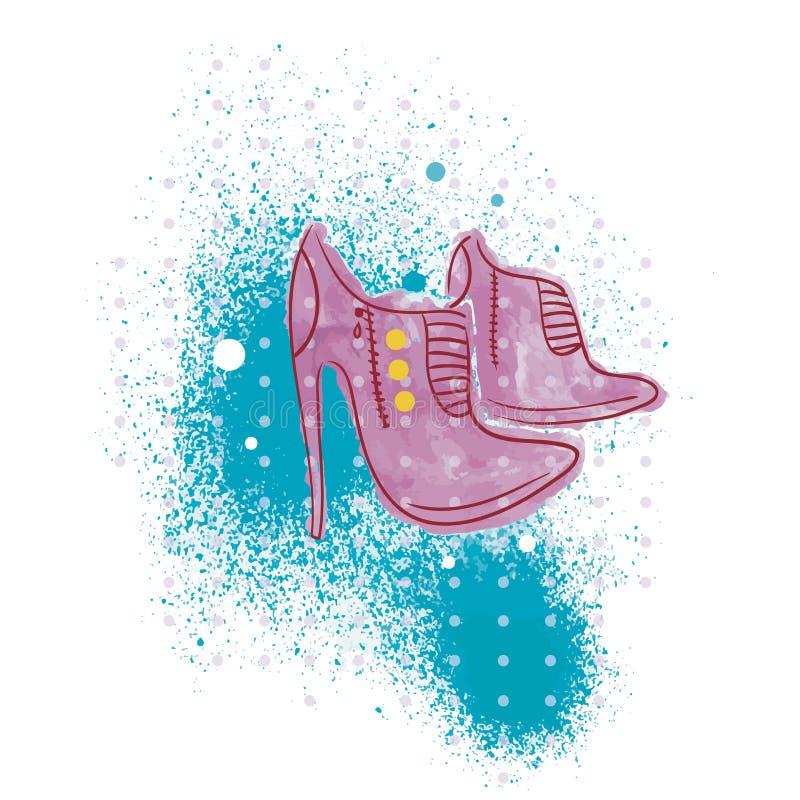 时兴的鞋子 向量例证