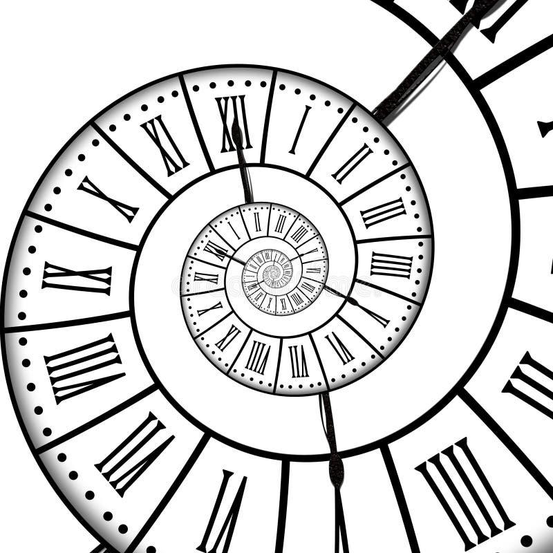 时间螺旋,隔绝在白色 库存例证