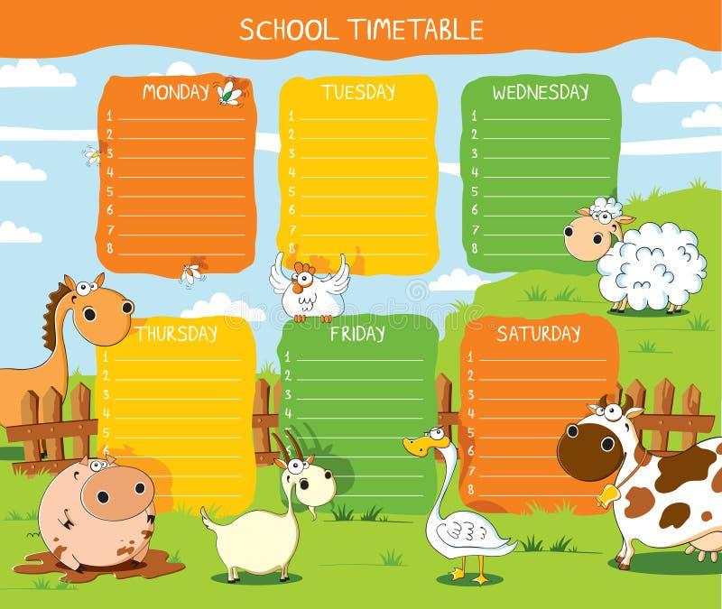时间表农场 向量例证