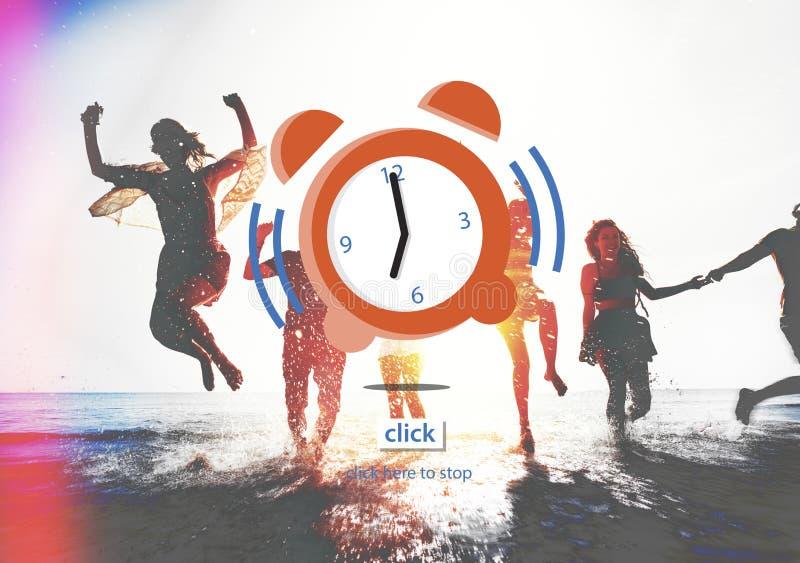 时间警报最后期限读秒概念 免版税库存照片