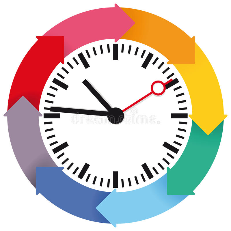 时间计划 库存例证