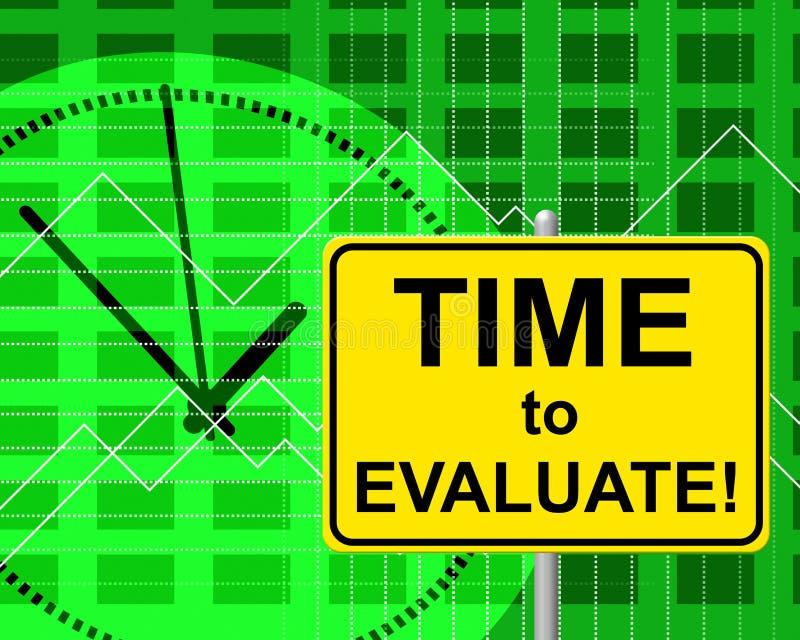 时刻评估刚才代表和估计 库存例证
