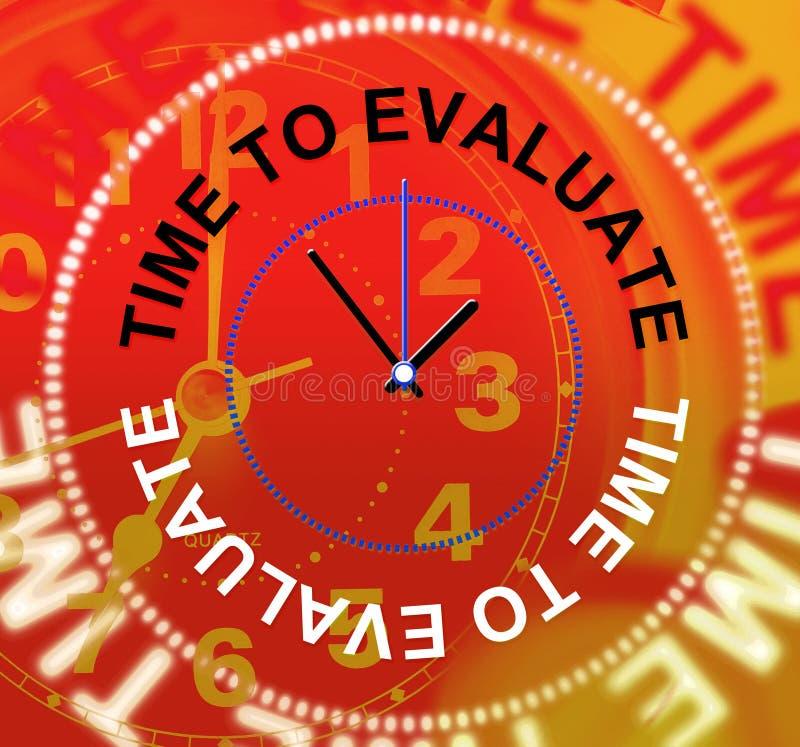 时刻评估表明观点评估并且计算 皇族释放例证