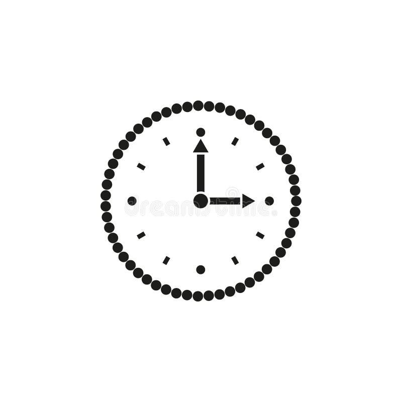 时间象 时间和手表,定时器标志 Ui 网 徽标 标志 平的设计 阿帕卢萨马 股票 皇族释放例证