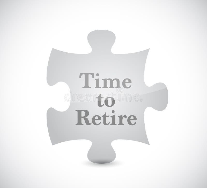 时刻退休难题概念例证设计 库存例证