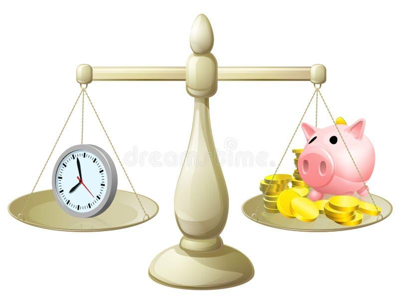 时间金钱标度 库存例证