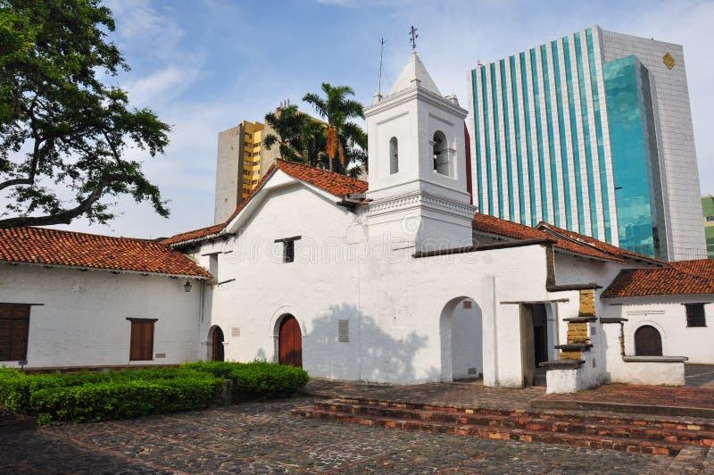 时代错误,老对新在卡利,哥伦比亚 库存照片