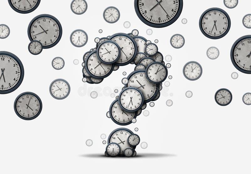 时间问题概念 库存例证