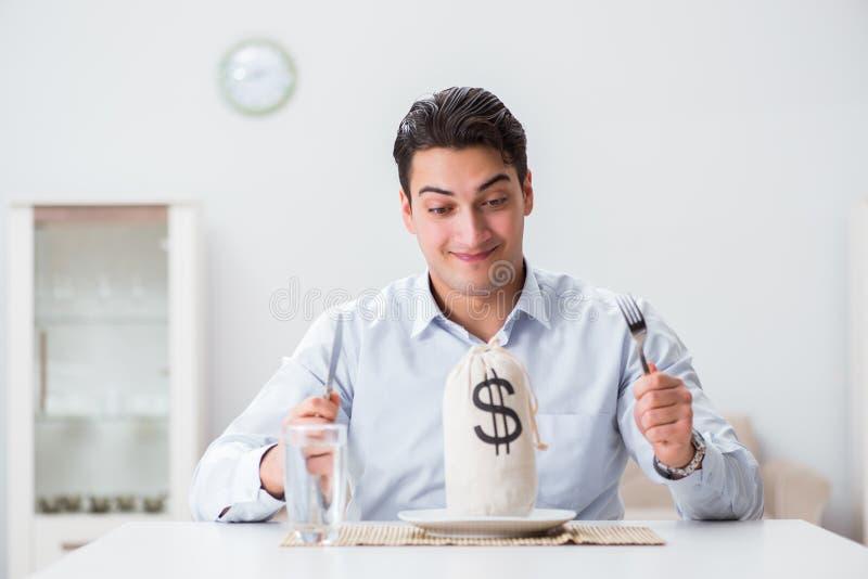 昂贵用餐的概念在餐馆 库存图片