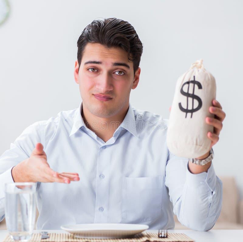 昂贵用餐的概念在餐馆 免版税库存图片