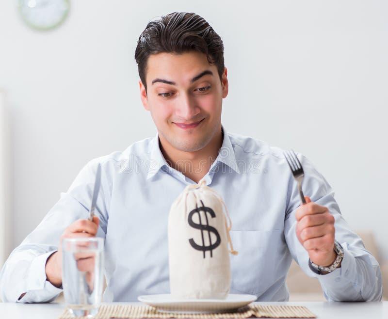 昂贵用餐的概念在餐馆 免版税图库摄影