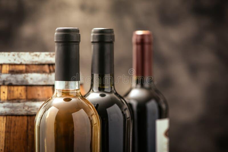 昂贵的酒收藏 免版税图库摄影