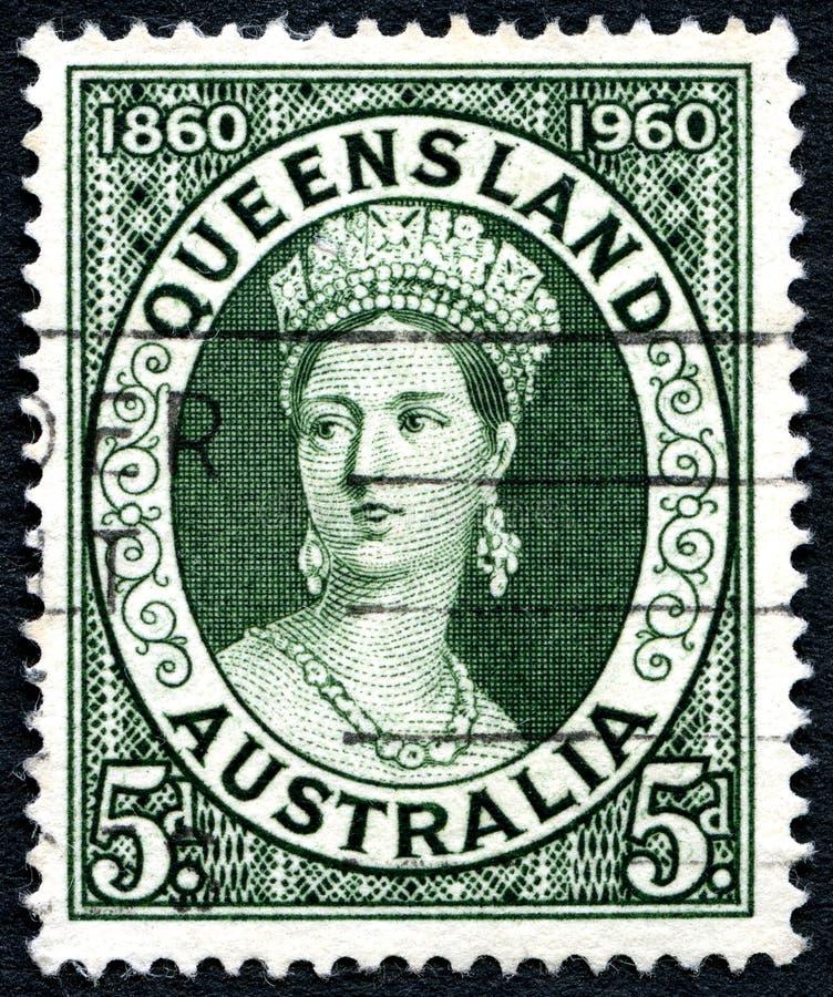 昆士兰澳大利亚邮票 库存图片
