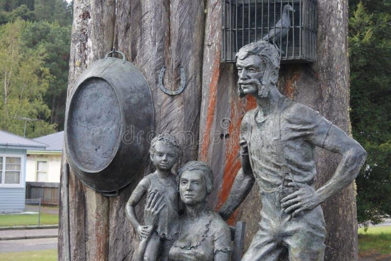 昆斯敦纪念碑矿工塔斯马尼亚澳大利亚 库存图片