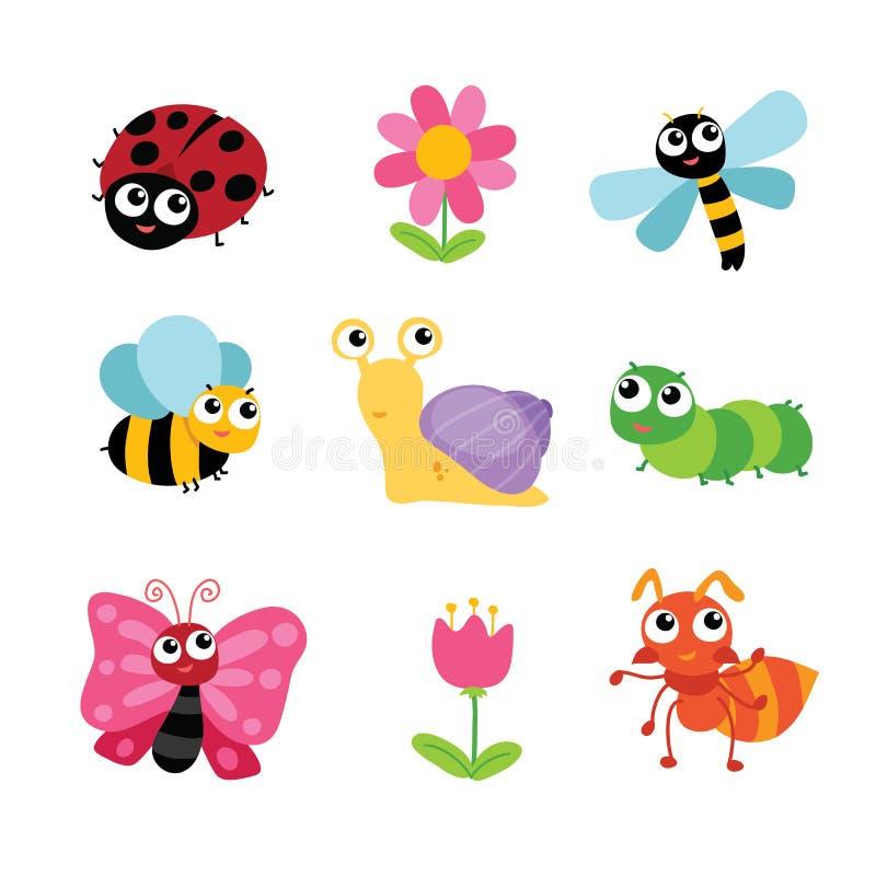 昆虫字符设计 库存例证