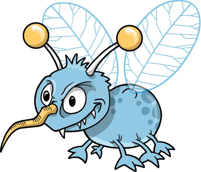 昆虫平均讨厌的向量 皇族释放例证