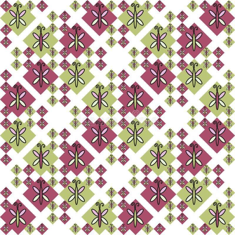 昆虫无缝的样式设计元素 能为邀请,贺卡,印刷品,缎带包装,制造业使用 免版税库存照片