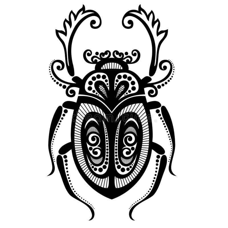 昆虫甲虫 库存例证