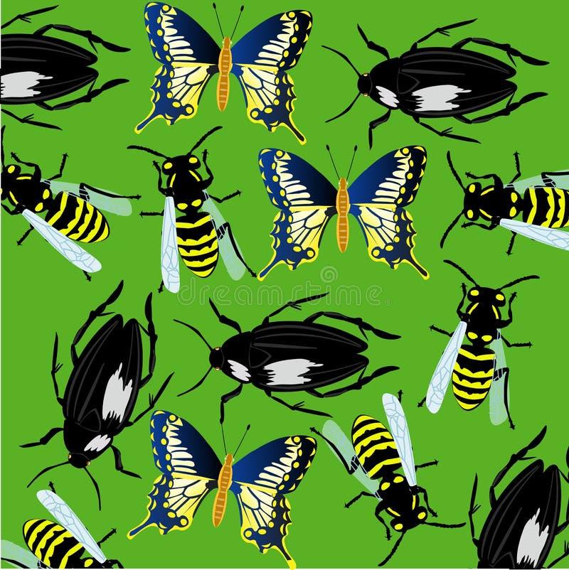 从昆虫的背景 向量例证