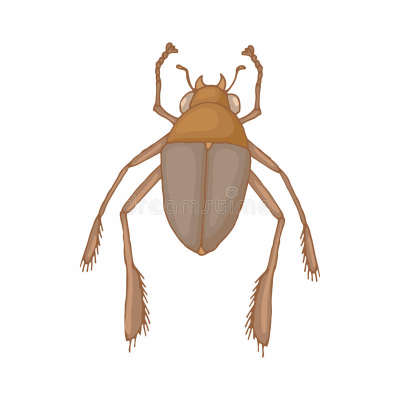 昆虫臭虫象,动画片样式 库存例证