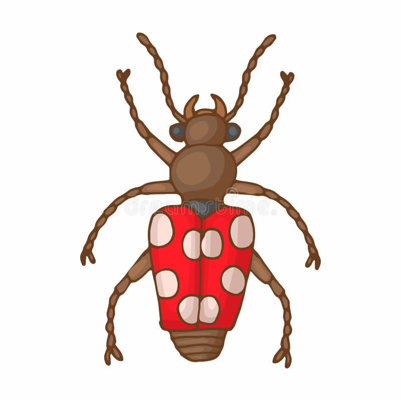 昆虫臭虫象,动画片样式 向量例证
