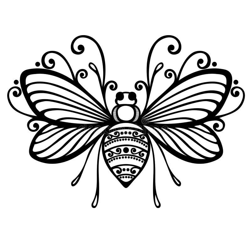 昆虫蜂 皇族释放例证