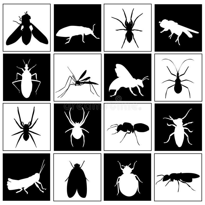 昆虫集 皇族释放例证
