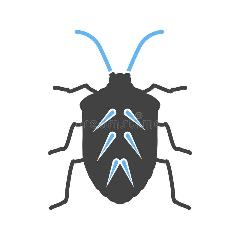 昆虫,履带牵引装置,甲虫 向量例证