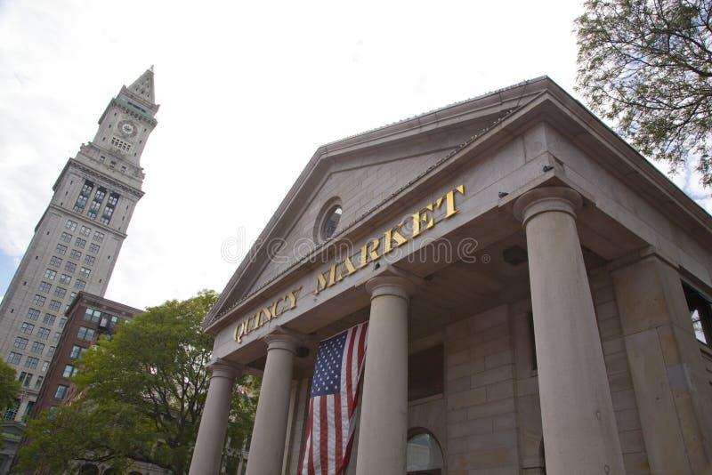 昆西市场,波士顿 图库摄影