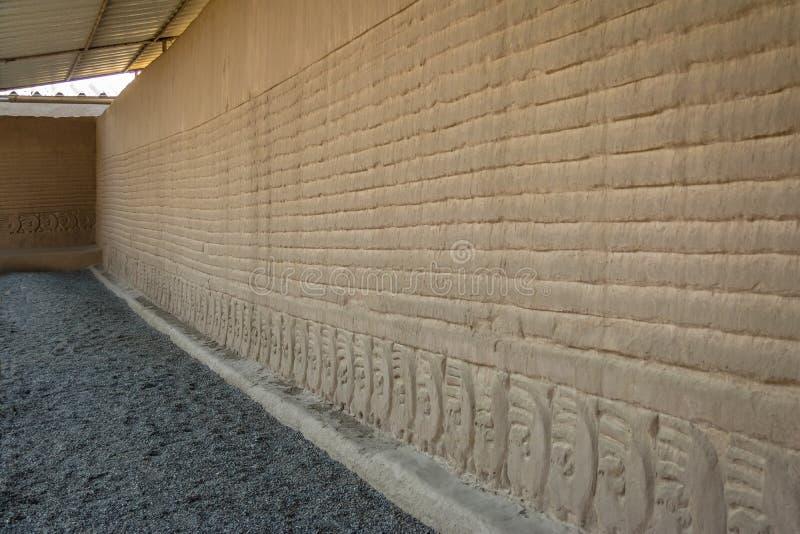 昌昌-特鲁希略角,秘鲁古老废墟  库存图片