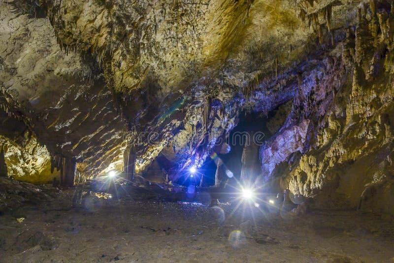 明亮和五颜六色的洞 库存图片