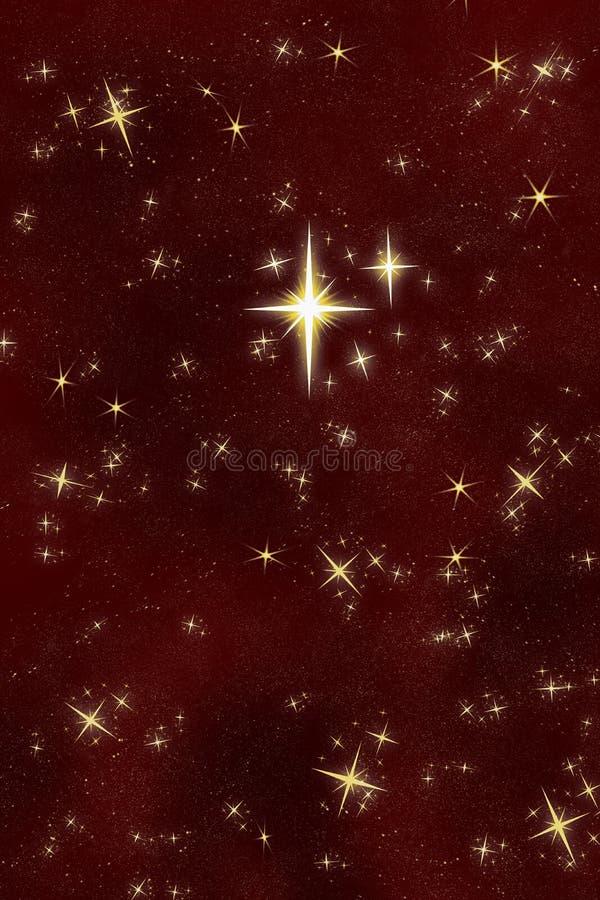 明亮夜空星形想 皇族释放例证