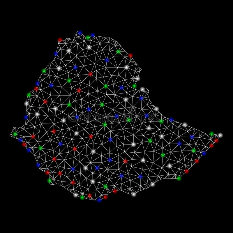 明亮的与一刹那斑点的滤网第2张埃塞俄比亚地图 皇族释放例证