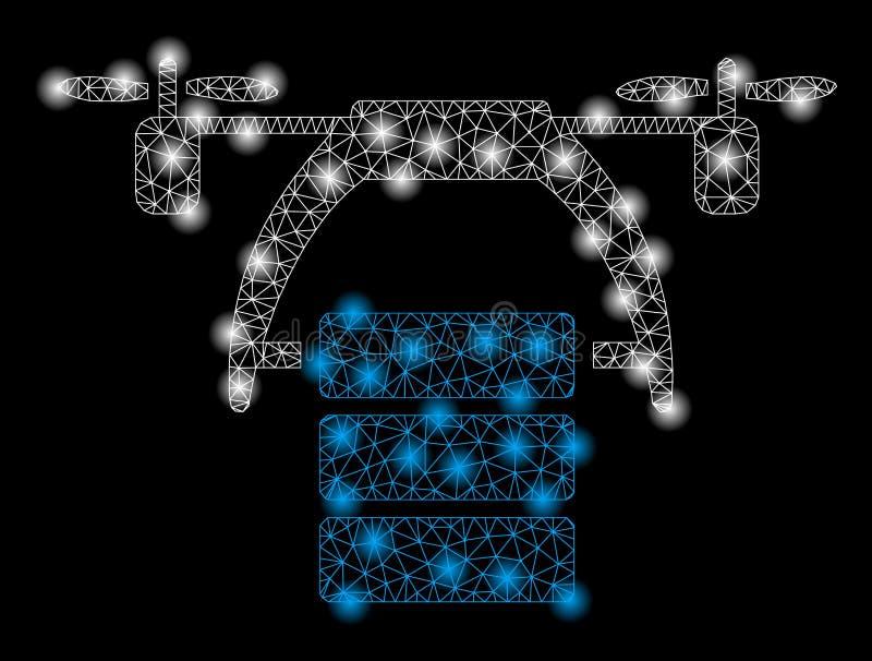 明亮的与火光斑点的滤网第2条货物寄生虫 库存例证