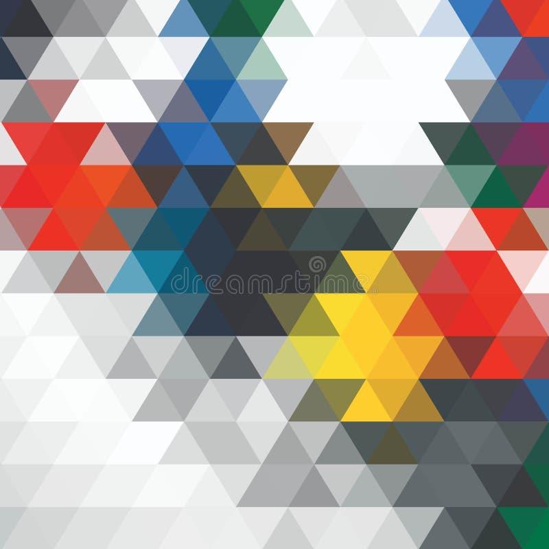 明亮的五颜六色的几何图象 蓝色正方形 10 eps 库存例证