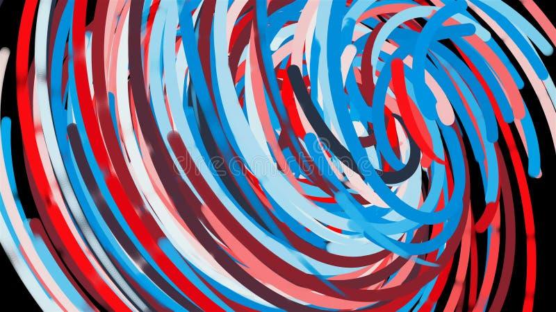 明亮的五颜六色的圈子排行,动画片样式背景,计算机生成的现代抽象背景, 3d回报 皇族释放例证