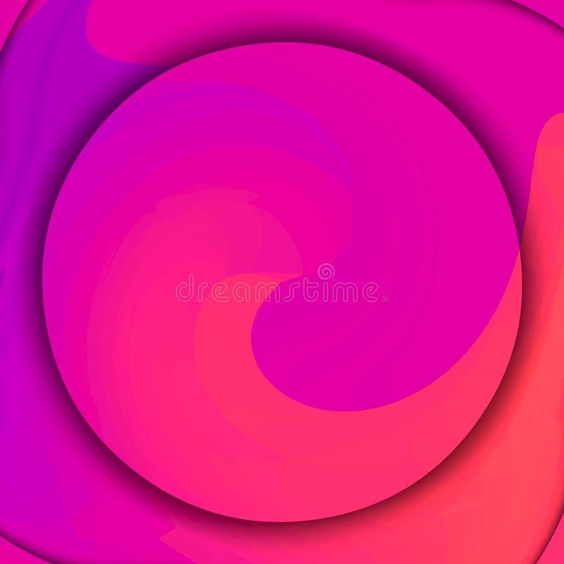 明亮的五颜六色的圈子背景在中心与转动结构 复制空间 向量例证