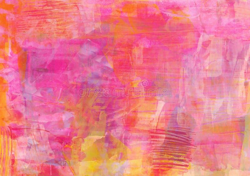 明亮的五颜六色的摘要-黄色淡粉红色背景 免版税图库摄影