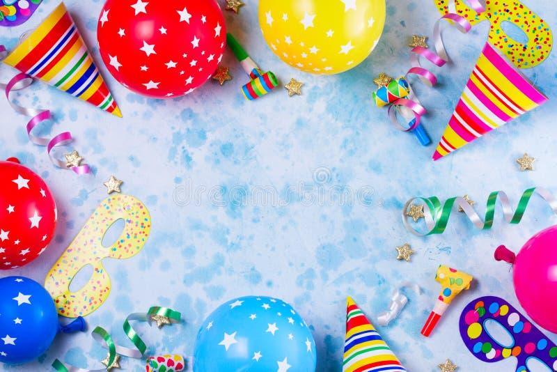 明亮的五颜六色的狂欢节或党场面 免版税库存照片