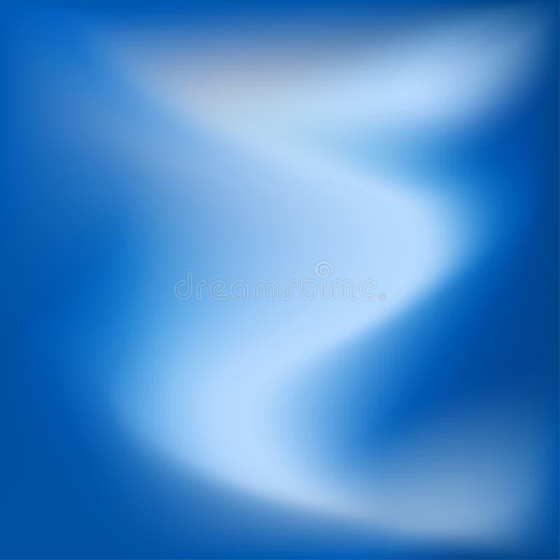 明亮的五颜六色的现代光滑的水多的蓝色轻的梯度颜色 向量例证