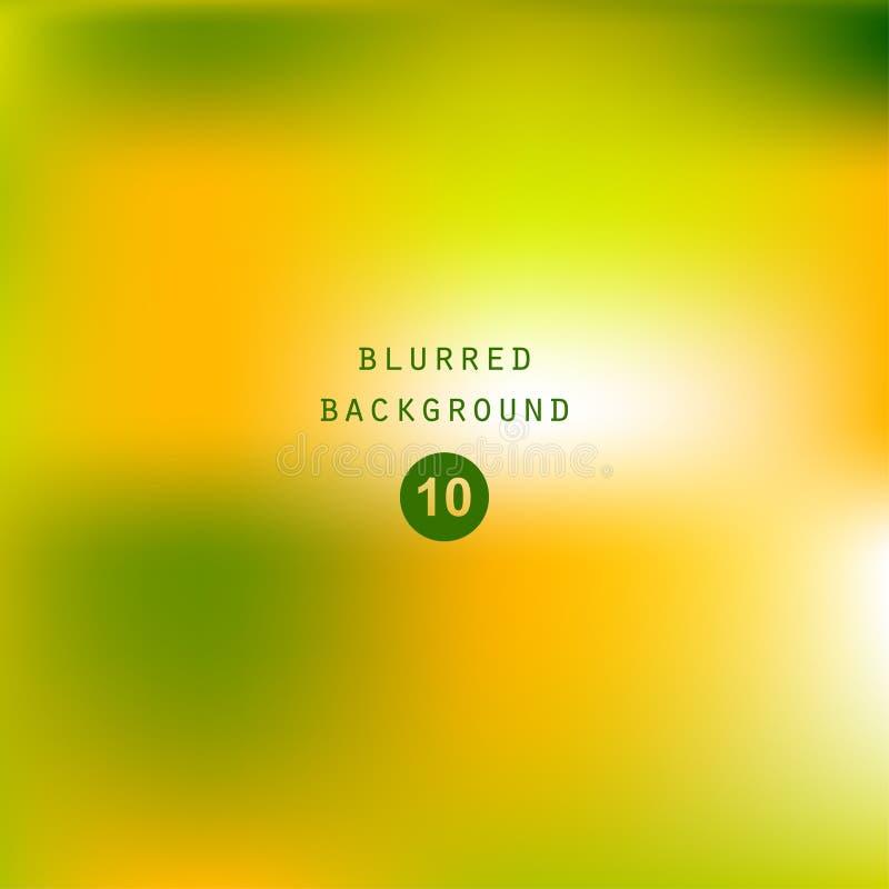 明亮的五颜六色的现代光滑的水多的绿色黄色梯度颜色 皇族释放例证