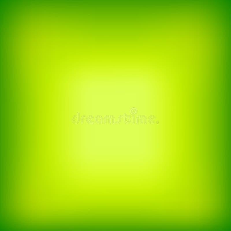 明亮的五颜六色的现代光滑的水多的绿色黄色梯度颜色 库存例证