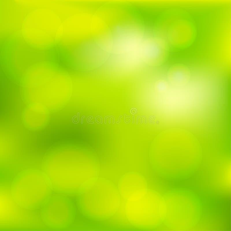 明亮的五颜六色的现代光滑的水多的绿色黄色梯度颜色 向量例证