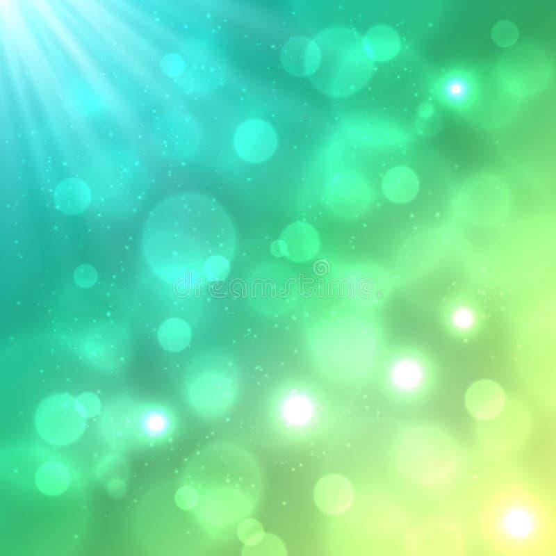 明亮的五颜六色的bokeh作用传染媒介背景 向量例证