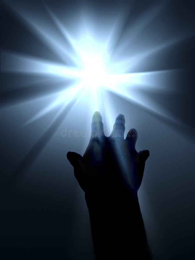 明亮的叫的光 向量例证